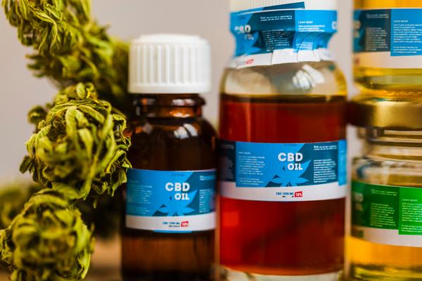 CBD oil in jars