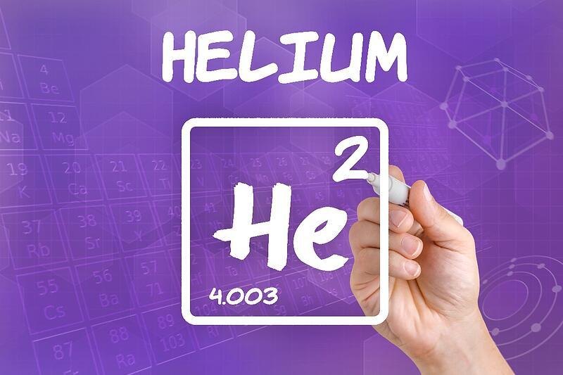 Finding vacuum leaks using helium 3