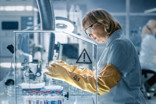 Glove box laboratory application