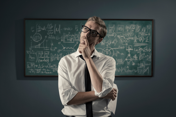 Man thinking about vacuum calculations